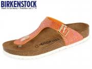 Birkenstock Gizeh 1005285 orange Shiny Snake BF
