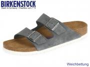 Birkenstock Arizona WB 1003729 stone Velour Leder
