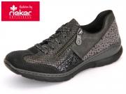 Rieker L3223-00 schwarz-granit Wildnubuk-Anaconda-Kame-Olymp-Serval