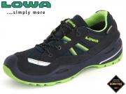 Lowa Simon II GTX Lo 640234 6903 navy-limone Textil-Leder