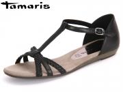 Tamaris 1-28137-28-001 black Leder Synthetik