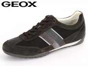 Geox Wells U52T5C-02211-C6524 mud black Scam Tessuto