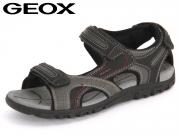 Geox Sandal U6224A-0BC50-C0043 darkblue grey black Vitello Synthetik