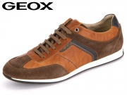 Geox Clemet U722FB-0FF22-C6G6Z brown cotton ebony Pull up Scamosciato