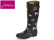 Tom Joule Wellyprint Wellyprint printed tall black dog Rubber