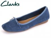 Clarks Freckle Ice 261237334 dark blue Nubuck