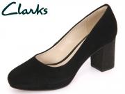 Clarks Kelda Hope 261240164 black Interest Suede