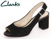 Clarks Kelda Spring 261235734 black Suede