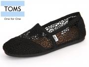 TOMS 10007853 black Moroccan Crochet