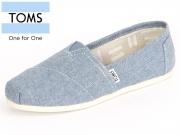 TOMS 10009752 blue slub chambray Chambray