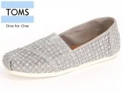 TOMS 10009728 silver crochet Lace