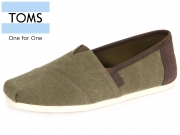 TOMS 10009900 olive Washed Canvas Trim