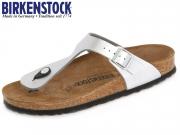 Birkenstock Gizeh 043851 silver Birko Flor