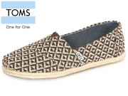 TOMS 10010793 choc brown Woven Rope