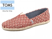 TOMS Classic 10010790 red geo Woven Rope