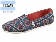 TOMS Classic 10010783 navy forest Tribal