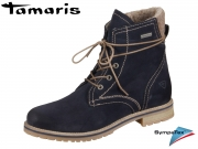 Tamaris 1-26243-29-805 navy Leder Textil