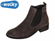 Wolky Masalla II 0451740210 anthracite Oiled Suede