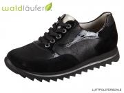 Waldläufer Haiba 923002-505001 schwarz Velour Glitter