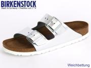 Birkenstock Arizona 1000062 silber Leder