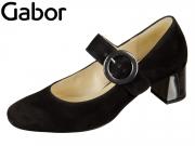Gabor 75.274-67 schwarz Samtchevrau Cosmo Lack