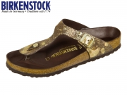 Birkenstock Gizeh HEX 1006883 metallic brown Natural Leather Spotted