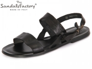 The sandals factory 6185 black Leather