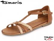 Tamaris 1-28132-28-392 cognac kombi Leather
