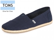 TOMS Classic 10008553 navy linen Rope