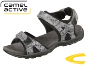 camel active Suez 760.72.05 grey black printed canvas mesh