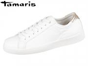 Tamaris 1-23631-20-154 white rose metallic Mix Leder Synthetik