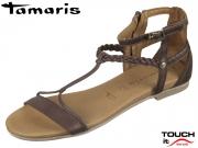 Tamaris 1-28043-20-354 mocca uni Leder