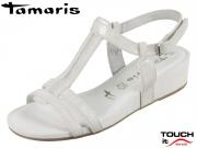 Tamaris 1-28209-20-243 cloud metallic Mix Leder Textil