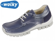 Wolky Fly 0470170870 blue summer Leoa Leather