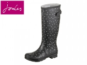 Tom Joule Welly Print Wellyprint black Raindrops Rubber