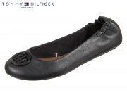 Tommy Hilfiger Flexible Leather Ballerina FW0FW02810-990 black