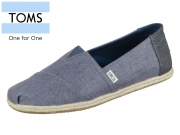 TOMS Classic 10009899 blue washed Canvas
