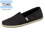 TOMS 10008356 black Linen Rope