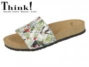 Think! BLUZA 82321-97 bianco kombi Effekt Wilderness
