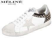 Meline IN1763 B ghaccio bianco nero Vitello Velour