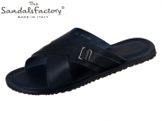 The sandals factory M7142 blue Vacchetta