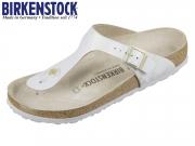 Birkenstock Gizeh 1008699 metallic blue VL Washed Leder