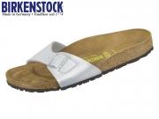 Birkenstock Madrid 040413 silver Birko Flor