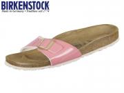 Birkenstock Madrid 1008494 two tone cream coral Birkoflor Patent