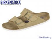 Birkenstock Arizona BS 1003735 sand Velour Leder SFB