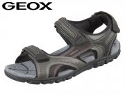 Geox Sandal U8224D-0BC50-C0043 darkblue grey black Vitello Synthetik