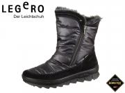 Legero NOVARA 3-00932-02 schwarz Velour Textile Gore