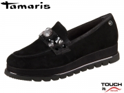 Tamaris 1-24705-21-029 black pewter Materialmix aus Leder und Synthetik