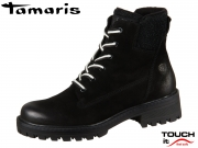 Tamaris 1-25214-21-098 black kombi Materialmix aus Leder und Synthetik