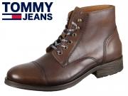 Tommy Hilfiger Dressy Leather Lace Up Boot EM0EM00136-DRESSY 906 winter cognac